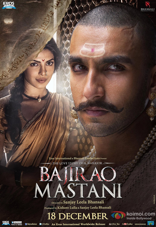 Priyanka Chopra and Ranveer Singh in a 'Bajirao Mastani' Movie Poster 7