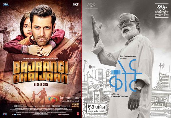 Bajrangi Bhaijaan and Court movie posters