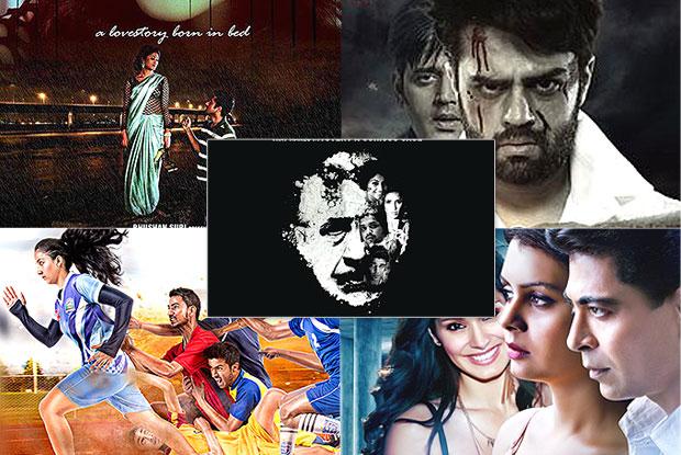 Charlie Kay Chakkar Mein, Yaara Silly Silly, Four Pillars Of Basement, Ranbanka and Run Bhuumi movie posters