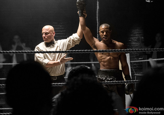 Michael B. Jordan in a still from movie 'Creed'