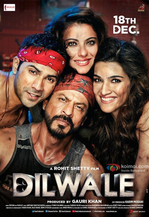 Shah Rukh Khan, Kajol, Varun Dhawan and Kriti Sanon starrer 'Dilwale' Movie Poster 1