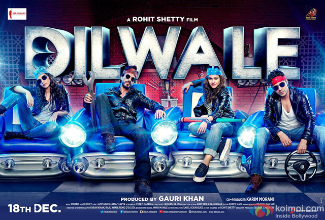 Shah Rukh Khan, Kajol, Varun Dhawan and Kriti Sanon starrer 'Dilwale' Movie Poster 3