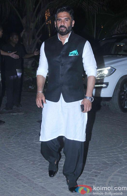 Sunil Shetty attend Akshay Kumar's Diwali party