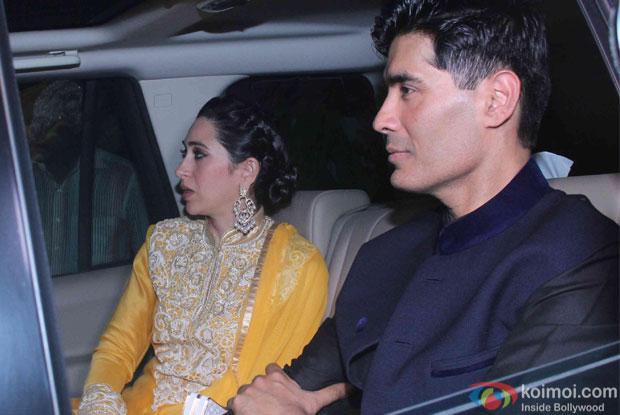 Karisma Kapoor and Manish malhotra attend Akshay Kumar's Diwali party