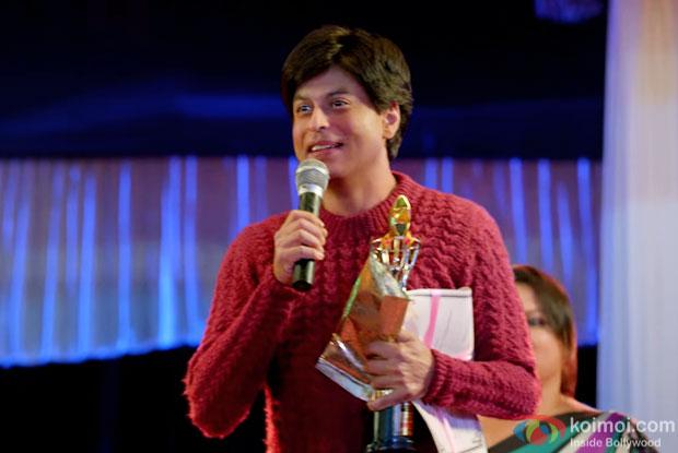 Shah Rukh Khan in a still from 'Fan'