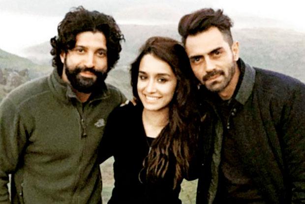 Farhan Akhtar, Shraddha Kapoor and Arjun Rampal on the location of 'Rock On!! 2'