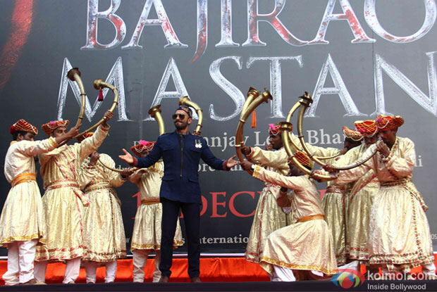 Ranveer Singh during the poster launch of Bajirao Mastani