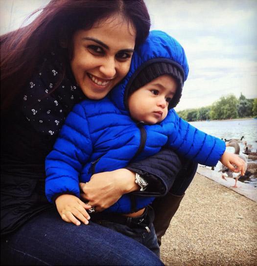 Genelia D'Souza With Son Riaan Deshmukh