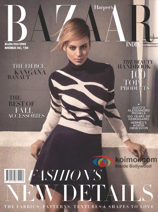 Kangana Ranaut On The Harper's Bazaar Cover