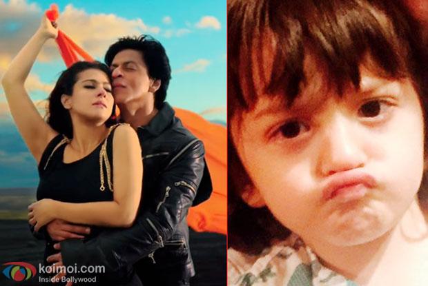Kajol, Shah Rukh Khan and AbRam