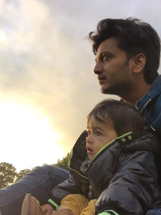 Ritiesh Deshmukh With Son Riaan Deshmukh