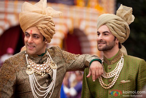 Salman Khan and Neil Nitin Mukesh in a still from 'Prem Ratan Dhan Payo'