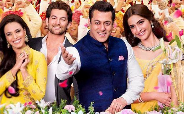 Neil Nitin Mukesh, Salman Khan and Sonam Kapoor in a still from 'Prem Ratan Dhan Payo'