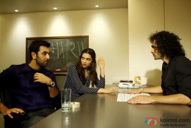Ranbir Kapoor, Deepika Padukone and Imtiaz Ali