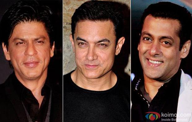 Shah Rukh Khan, Aamir Khan and Salman Khan