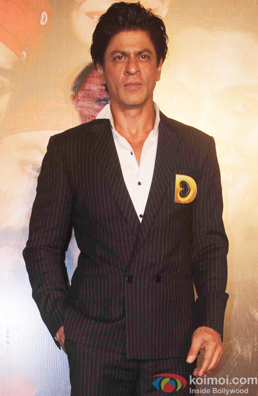 Shah Rukh Khan during the trailer launch of film Dilwale