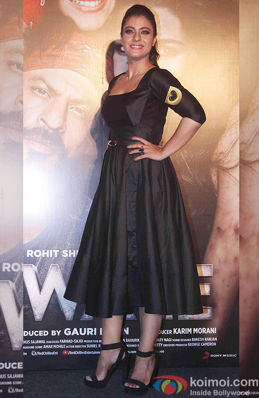 Kajol during the trailer launch of film Dilwale