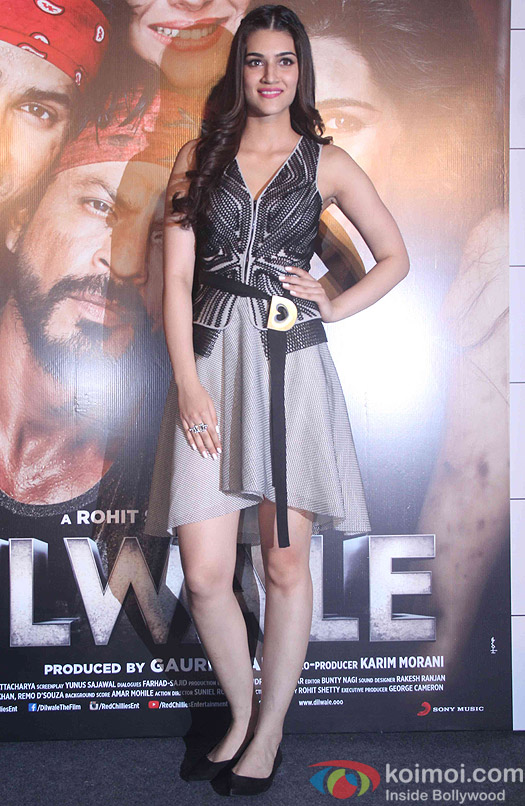 Kriti Sanon during the trailer launch of film Dilwale