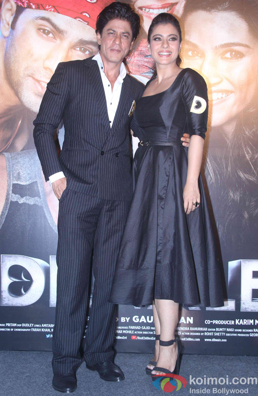 Shah Rukh Khan and Kajol during the trailer launch of film Dilwale