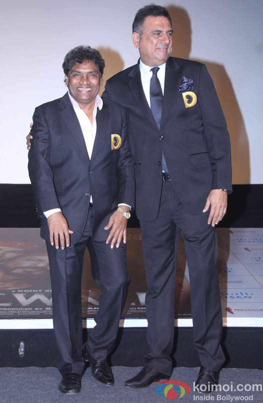 Johnny Lever and Boman Irani during the trailer launch of film Dilwale
