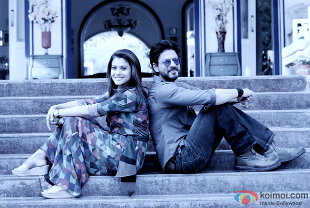 Kajol and Shah Rukh Khan on the sets of 'Dilwale'