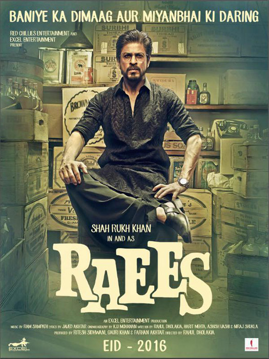 Shah Rukh Khan in poster of movie Raees