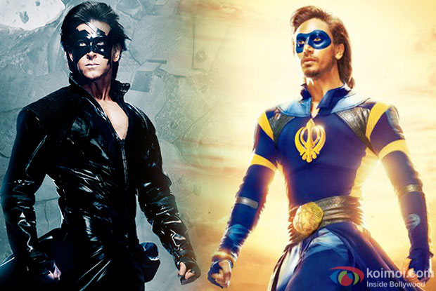 Hrithik Roshan in 'Krrish 3' and Tiger Shroff in 'A Flying Jatt'