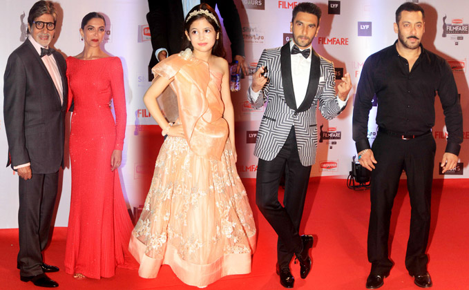 Filmfare Awards 2016 : Catch Pics Of Celebs On Red Carpet & Some