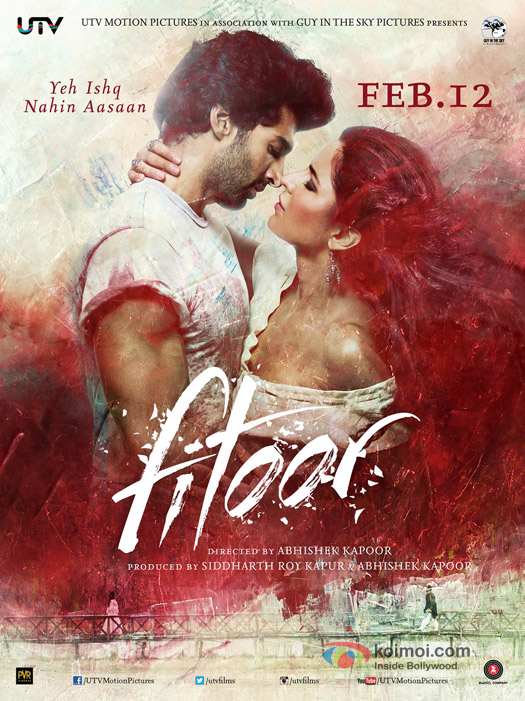 Aditya Roy Kapur and Katrina Kaif in a 'Fitoor' Movie Poster 1