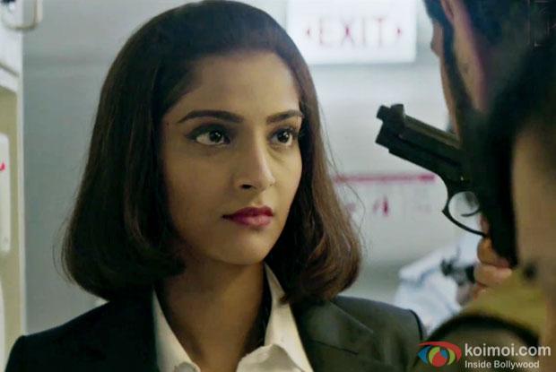 Sonam Kapoor in a still from 'Neerja'