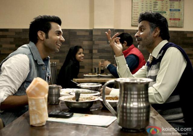 Rajkummar Rao and Manoj Bajpai in a still from movie 'Aligarh'