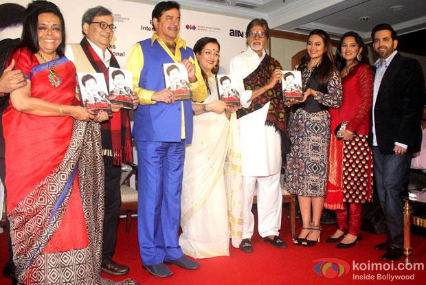 Subhash Ghai, Poonam Sinha, Amitabh Bachchan and Sonakshi Sinha during the launch of Shatrughan Singha's Biography