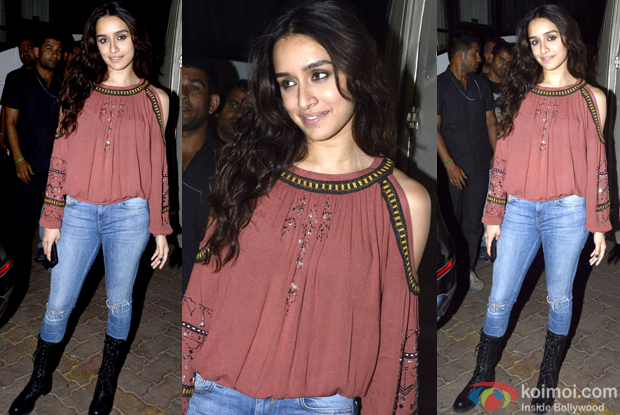 Shraddha Kapoor on the sets of 'Rock On!! 2'