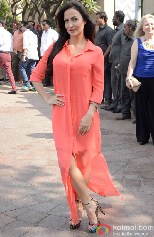 Elli Avram during Arpita Khans baby shower ceremony