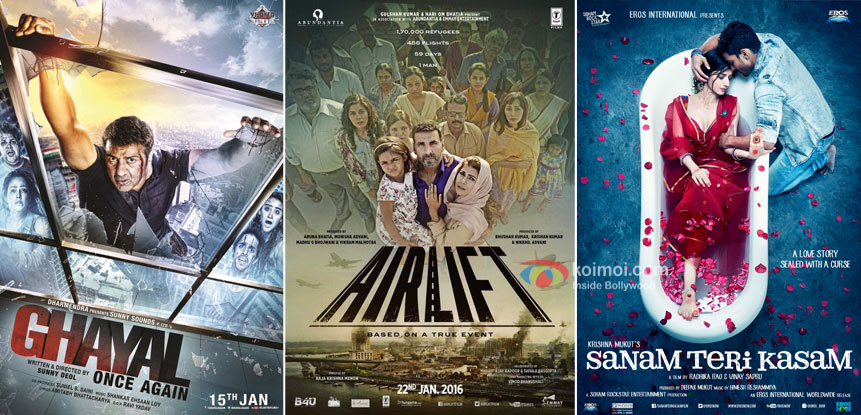 Box Office - Ghayal Once Again, Airlift, Sanam Teri Kasam updates