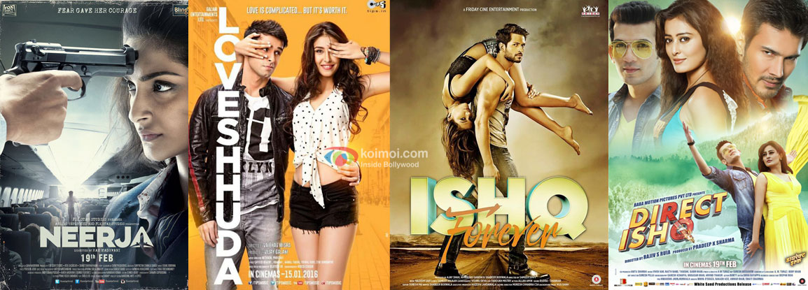 Box Office Prediction - Neerja, Loveshhuda, Direct Ishq and Ishq Forever