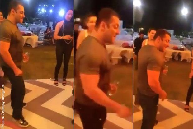 Catch Salman Khan Dancing On His Own Tune At Arpita Khan's Baby Shower