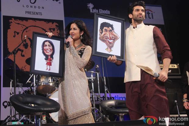 Katrina Kaif and Aditya Roy Kapur during the closing ceremony of Kala Ghoda Arts Festival