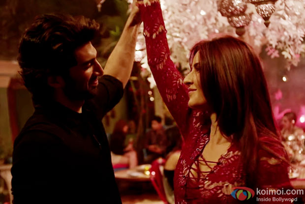 Aditya Roy Kapur and Katrina Kaif in a still from 'Fitoor'