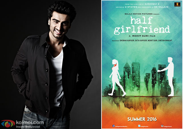 Arjun Kapoor and 'Half Girlfriend' Movie Poster