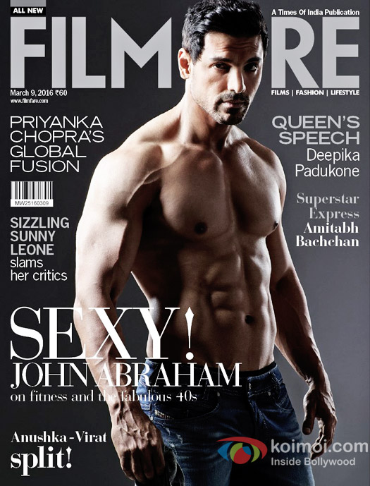John Abraham Flaunts His Hot Body On Filmfare Cover