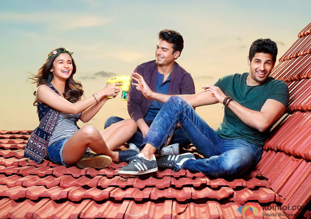 Alia Bhatt, Fawad Khan and Sidharth Malhotra in 'Kapoor And Sons' Movie Stills