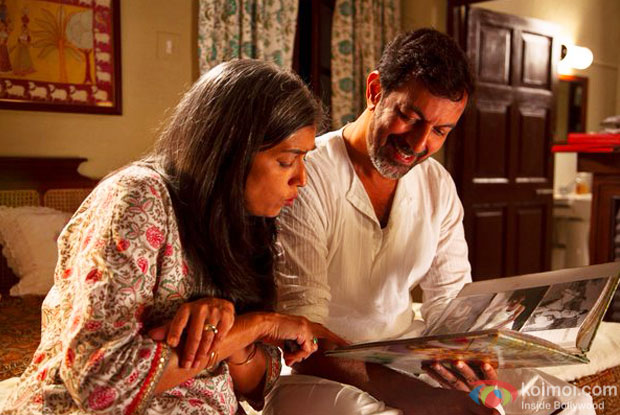 Ratna Pathak Shah and Rajat Kapoor in a still from 'Kapoor & Sons'