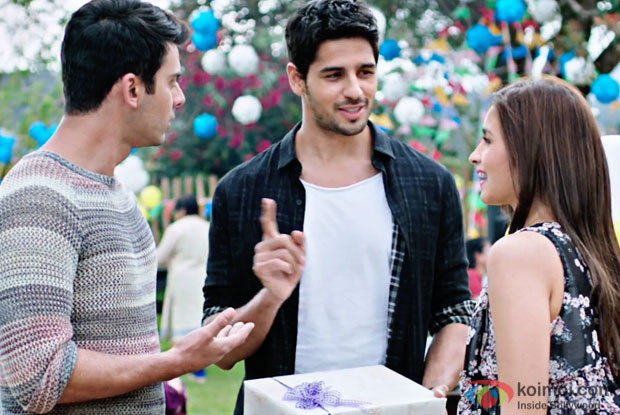 Fawad Khan, Sidharth Malhotra and Alia Bhatt in a still from 'Kapoor & Sons'