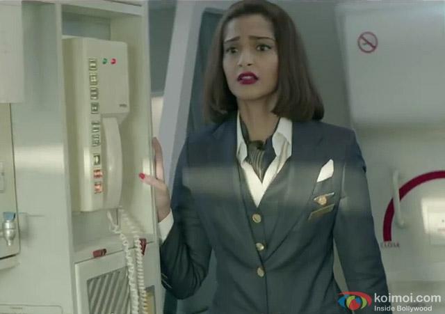 Sonam Kapoor in a still from movie 'Neerja'