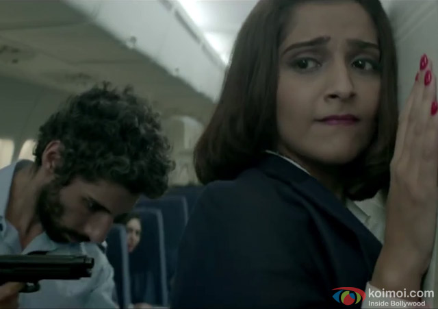 Sonam Kapoor in a still from movie 'Neerja'