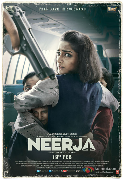 Sonam Kapoor starrer 'Neerja' Movie Poster 2