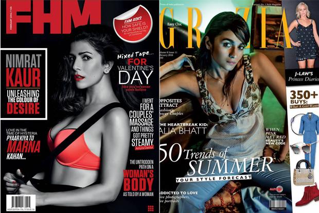 Nimrat kaur And Alia Bhat On Magazine cover