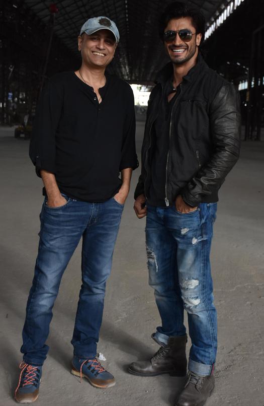 Vipul Shah and Deven Bhojani On location of film Commando 2
