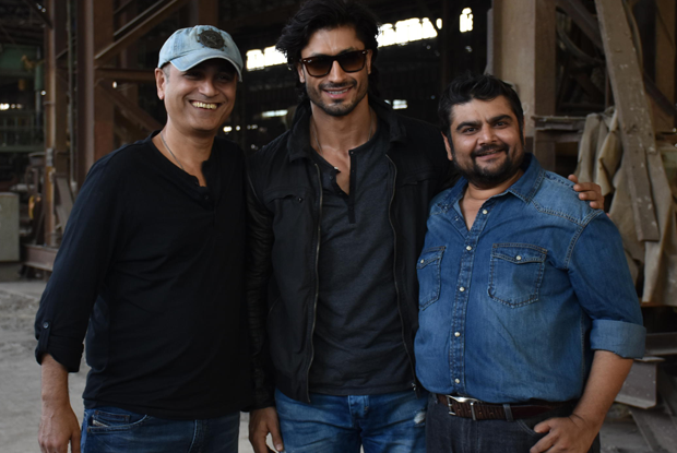 Vipul Shah, Vidyut Jamwal and Deven Bhojani On location of film Commando 2